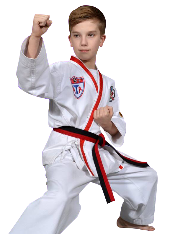 boy in a martial arts stance