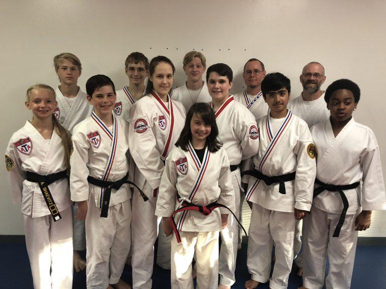 Bloomington ATA Black Belt students